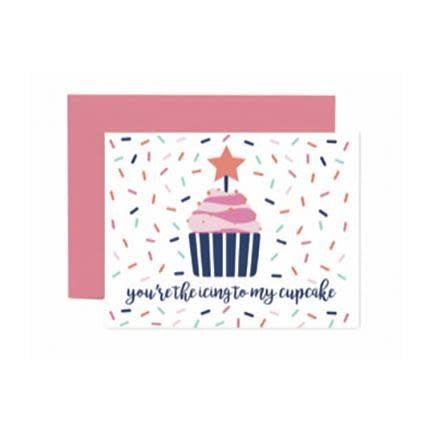 Mary Square Greeting Cards - Icing To My Cupcake