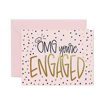 Mary Square Greeting Cards- You're Engaged