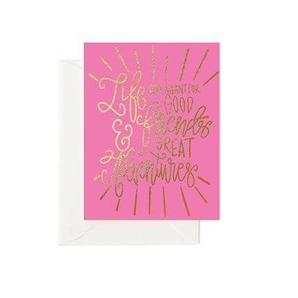 Mary Square Greeting Cards - Good Friends Great Adventures