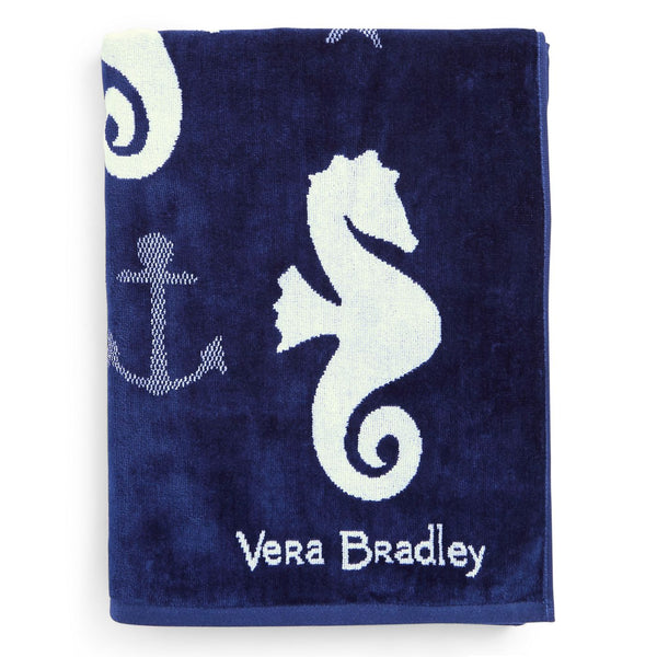 Jacquard Beach Towel in Seahorse of Course