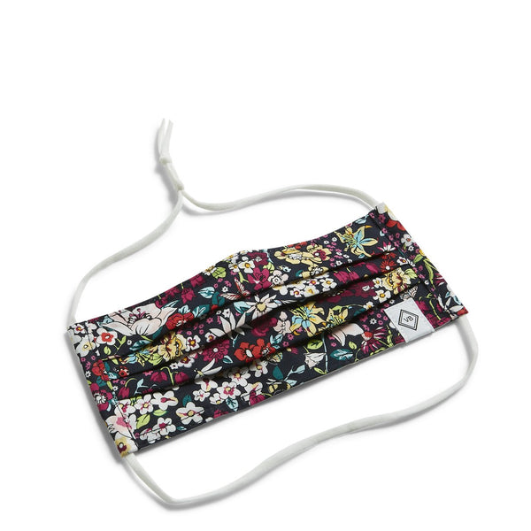Vera Bradley - Adult Pleated Mask with Adjustable Elastic in Itsy Ditsy