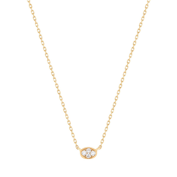 Diamond Studded Pendant & Slick Chain