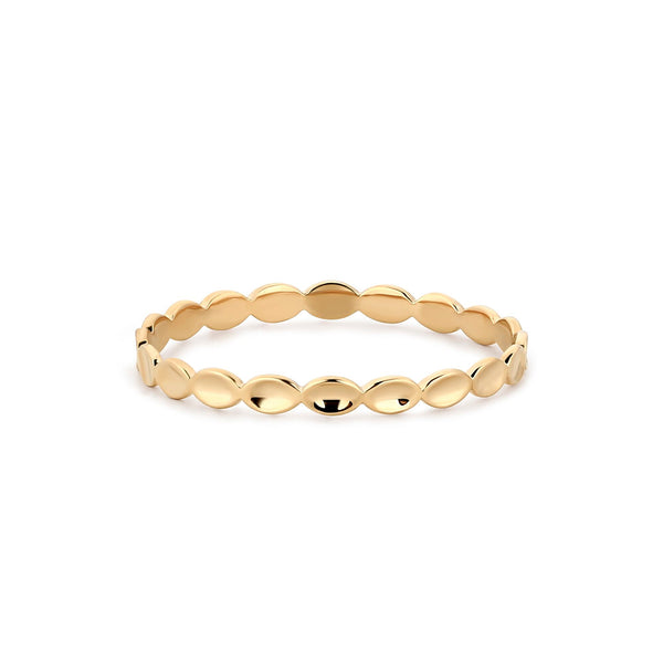 Circular Gold Bubble Ring