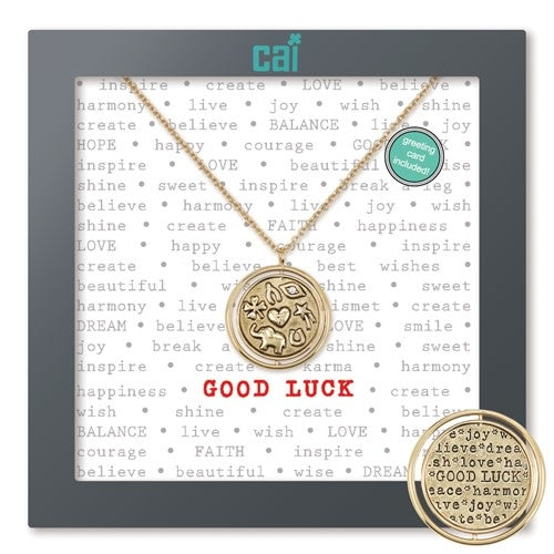 Good Luck Necklace-Gold