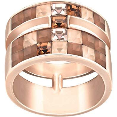 V&R Frozen Crystal Ring, Multi-colored, Rose Gold Plating Size 55 (US 7)