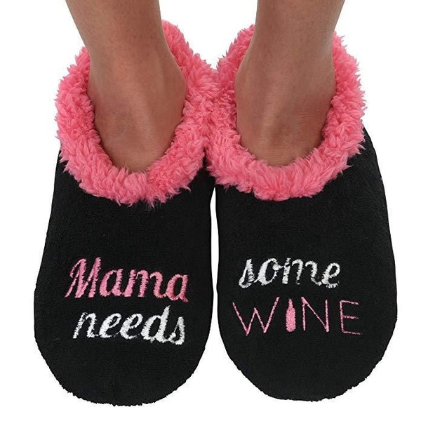 Women's Mama Needs Some Wine Snoozies in Black