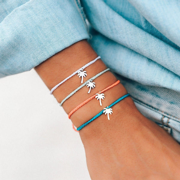 Blue Palm Tree Bracelet