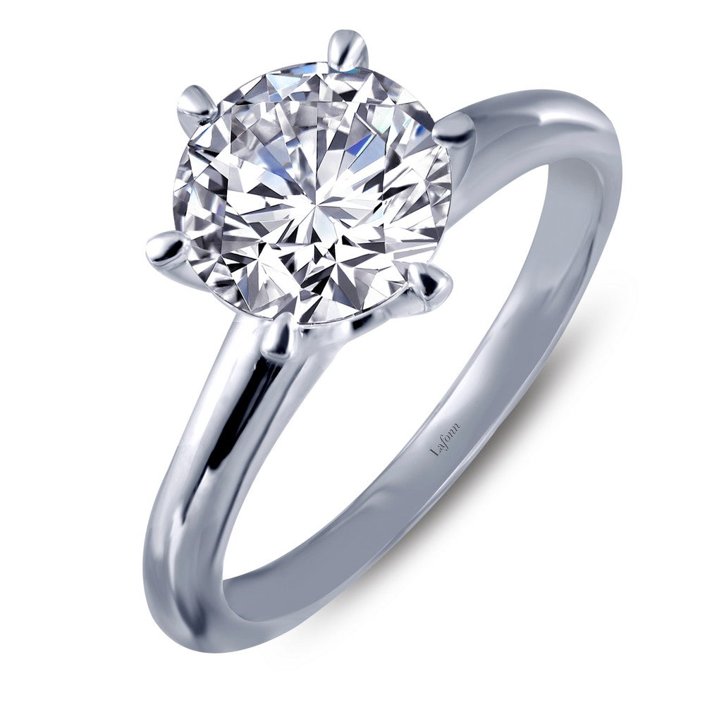 CLASSIC Platinum Simulated Diamond RINGS ( CTTW:1.28 )