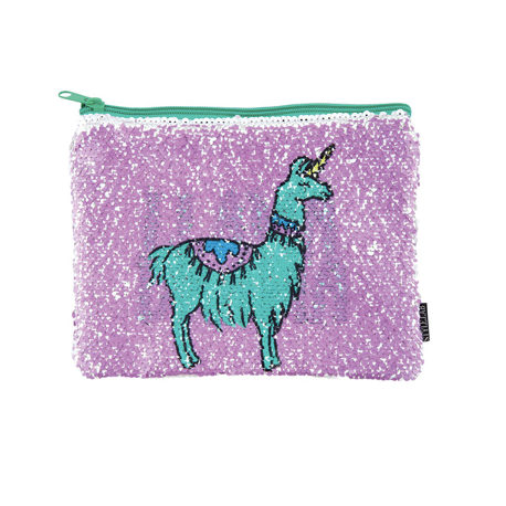 Magic Sequin Llama /Drama Reveal Pouch