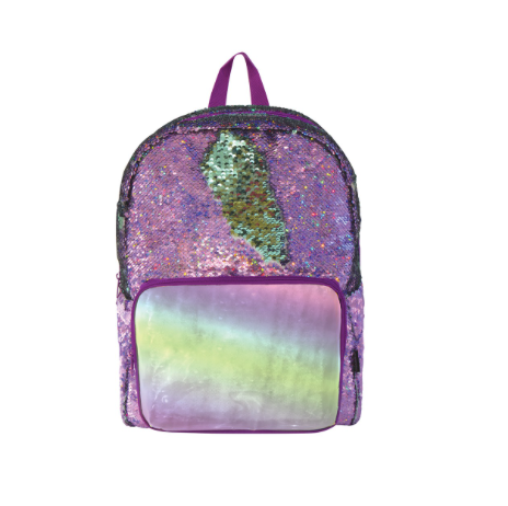 S. Lab Magic Sequin Backpack- Purple Holo/Seafoam