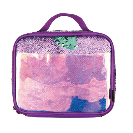 S. Lab Magic Sequim Luch Tote-Purple/Holo Seafoam