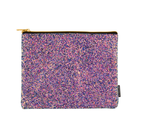 S. Lab Chunky Glitter Pouch-Midnight