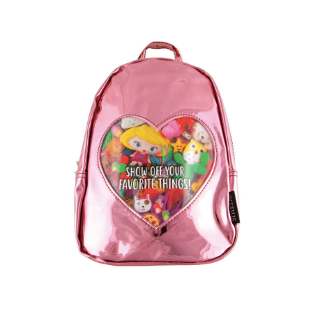 ITA'' Collection Mini Backpack-Pink Mirror