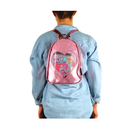 """ITA'' Collection Mini Backpack-Pink Mirror"