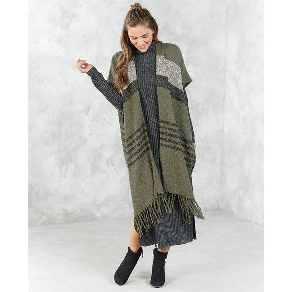 Josie Boucle Topper Olive