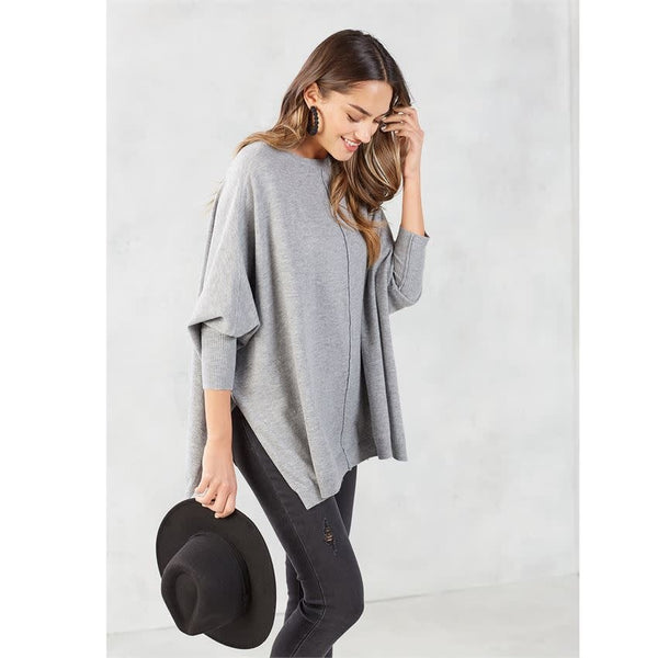 Leni Sweater Gray, One Size