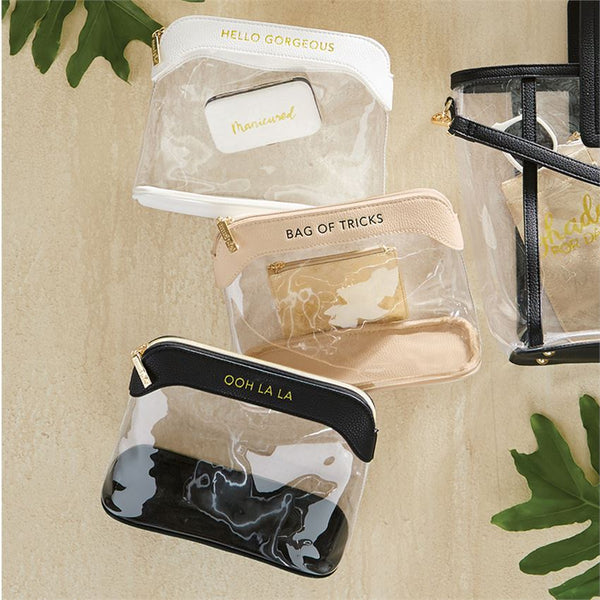Clear Makeup Bag (Select Color)