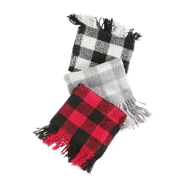 Buffalo Check Scarf Wrap - (Select Color)