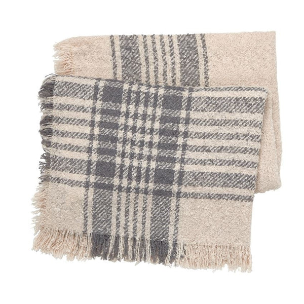 Boucle Square Scarf Blush