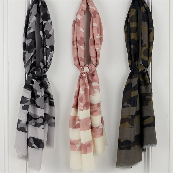 Striped Camo Scarf (Select Color)