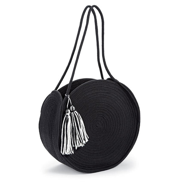 Rope Circle Tote Black