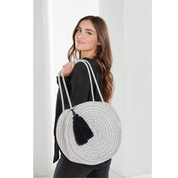 Rope Circle Tote Cream