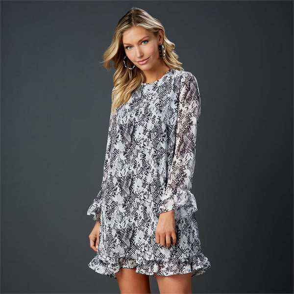 Romy Ruffle Sleeve Dress