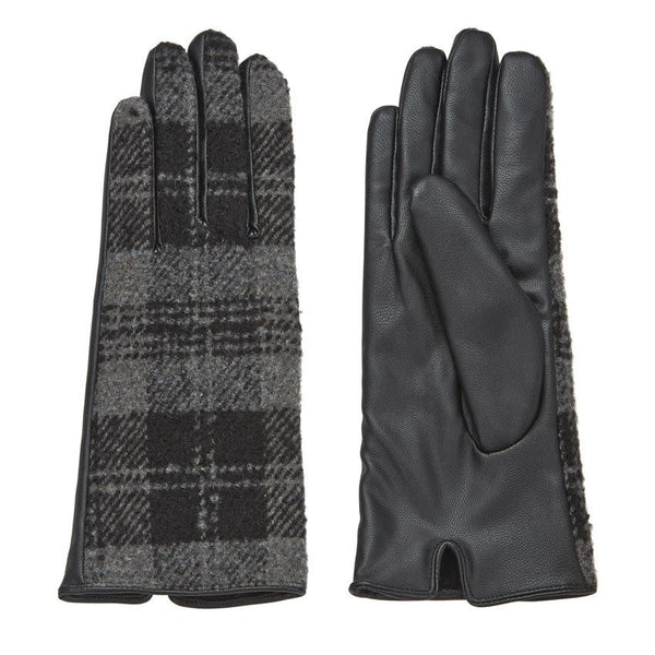 Plaid Gloves Gray