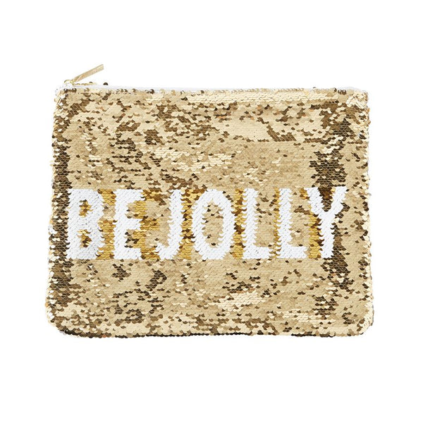 BE JOLLY GOLD SEQUIN HOLIDAY SWIPE CASE