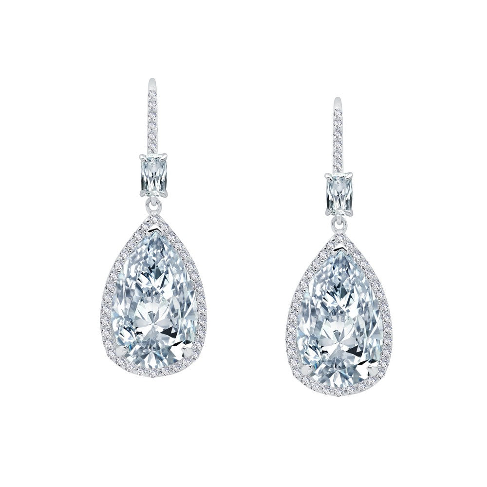 RED CARPET Platinum Simulated Diamond EARRINGS ( CTTW:14.14 |  )