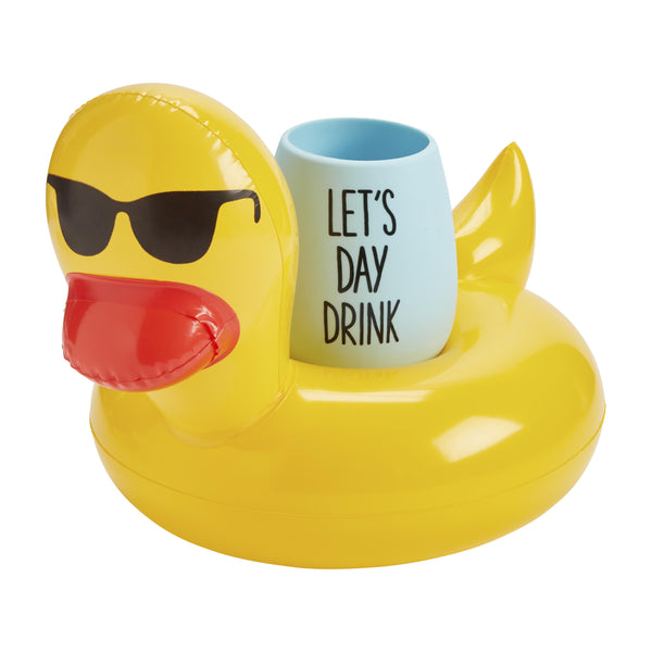 RUBBER DUCK DRINK FLOAT SET