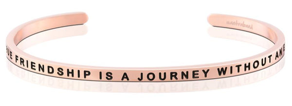 A True Friendship Is A Journey Without An End, Rose Gold