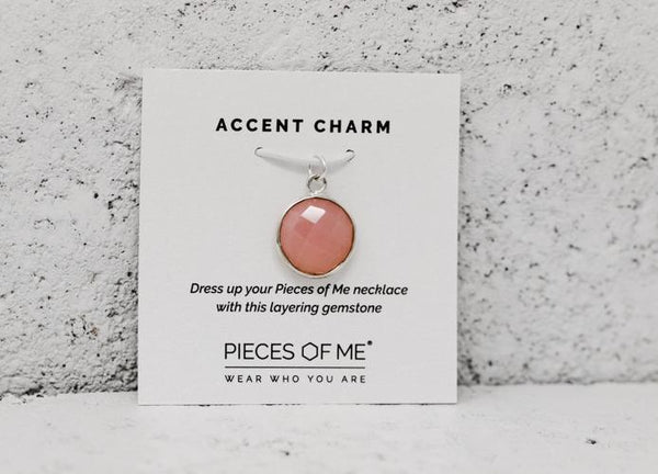 Pink Mimosa Accent Charm