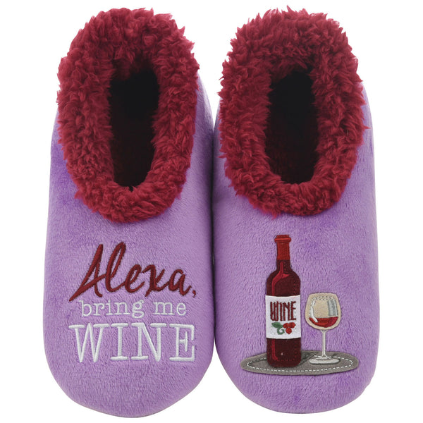 Women's Alexa , Bring Me Wine Snoozies in Purple