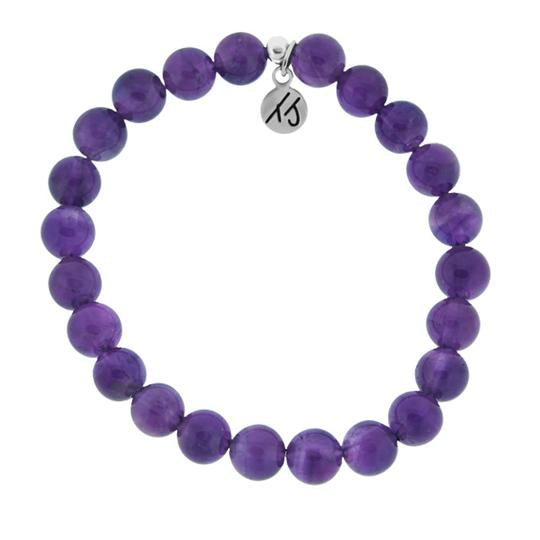 Core Collection Bracelet, Amethyst Stone - (Select Charm Inside)