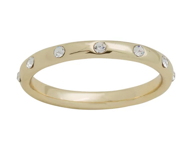 Eternity CZ Gold Layers Ring