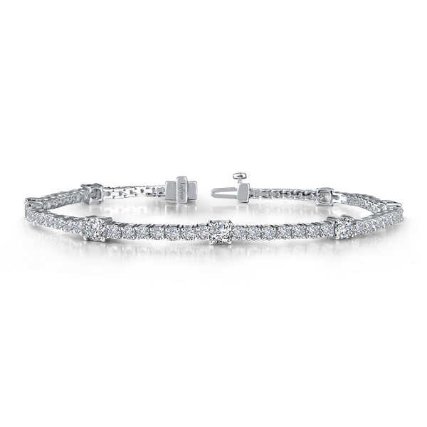 CLASSIC Platinum Simulated Diamond BRACELETS ( CTTW:5.82 | US: 72 )