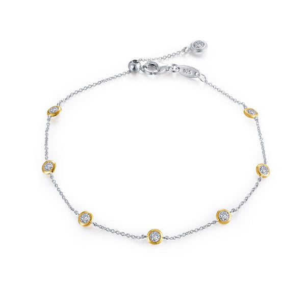 7 SYMBOLS OF JOY 2-Tone Simulated Diamond BRACELETS ( CTTW:1.02 | US: 75 )