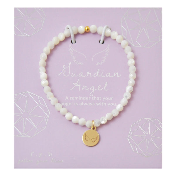 MINI MOTHER OF PEARL GUARDIAN ANGEL