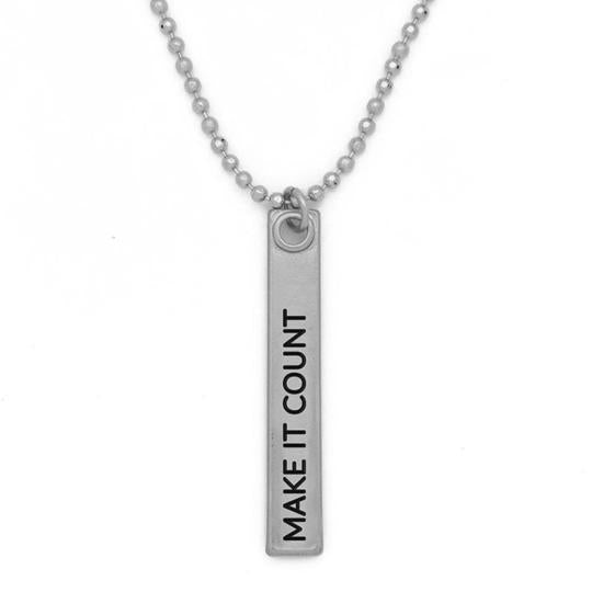 "Mantra Bar Necklace 36' in - ""Make It Count"""