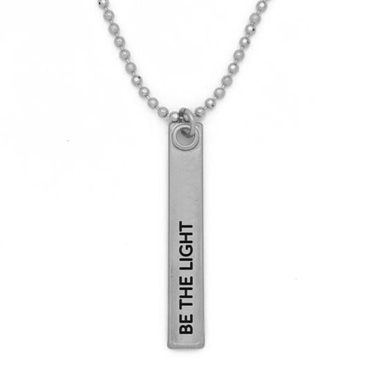 "Mantra Bar Necklace 36' in - ""Be The Light"""
