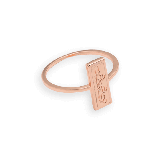 Hopeful ID Ring, Rose Gold