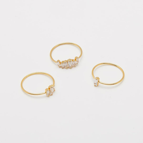 Amara Ring Set, Gold