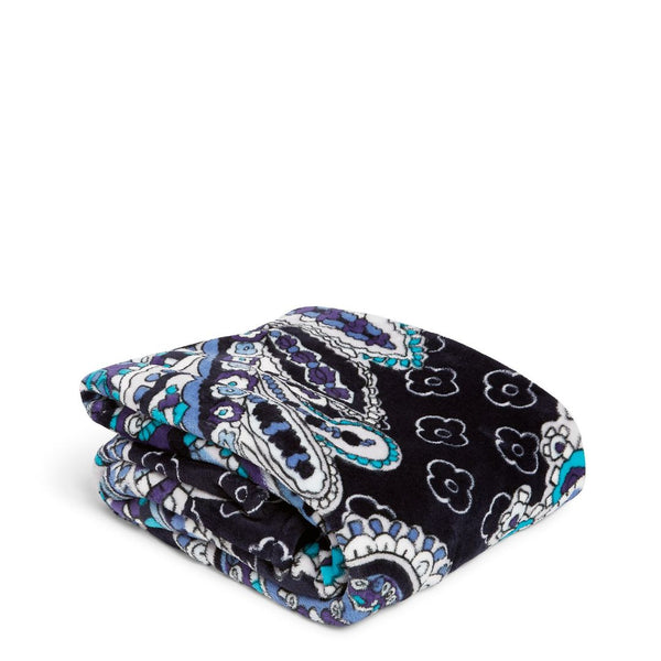 Plush Throw Blanket Deep Night Paisley