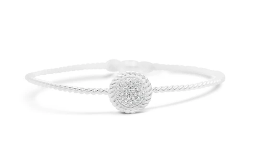 Power of Attraction Bracelet Pavé Rope Bezel CZ Disk