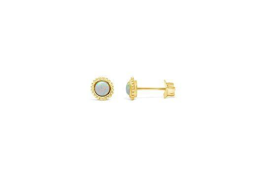 "White Opal ""Mini-Mini"" Stud"
