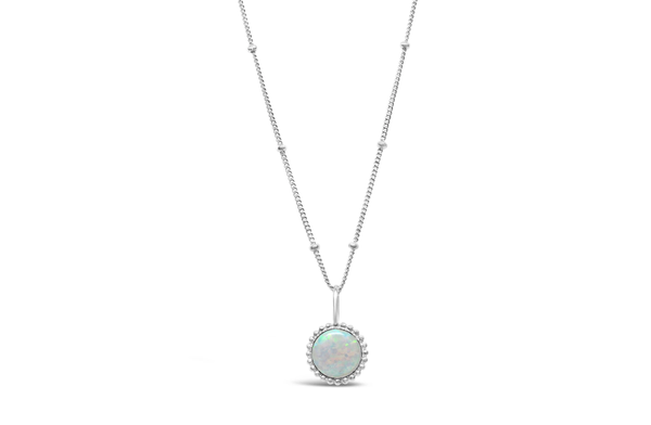 Opal Opulence - Mini White Opal Necklace
