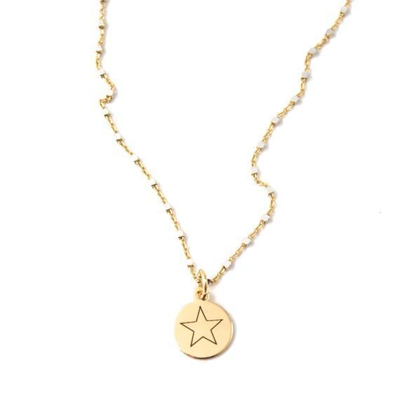 Shimmer Charm Necklace You're A Star- 16""