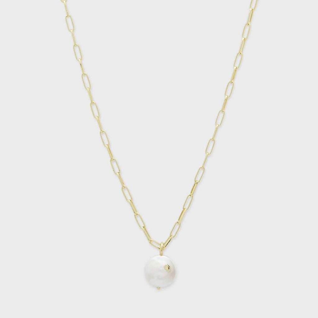 Reese Pearl Necklace- Gold/Pearl