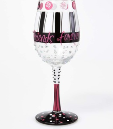 Girlfriends Forever Wine Glass